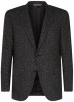 Canali Herringbone Woollen-silk Jacket