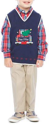 Izod 3-pc. Sweater Vest Set Toddler Boys