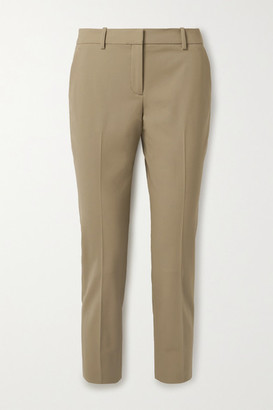 Theory Treeca 2 Cropped Stretch-wool Slim-leg Pants - Camel