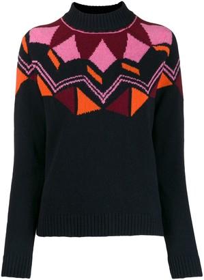 Paul Smith geometric knit jumper