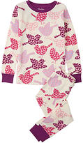 Hatley Children's Lots of Birds Pyjama Set, Cream/Pink