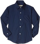Appaman Standard Dress Shirt (Toddler/Kid) - Navy Dots - 3T