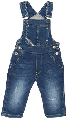 Diesel Stretch Cotton Denim Overalls