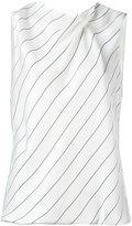 Giorgio Armani striped sleeveless top - women - Silk/Viscose - 42