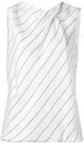 Giorgio Armani striped sleeveless top - women - Silk/Viscose - 48