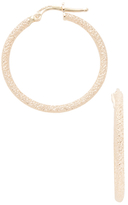 Candela 14K Yellow Gold Textured Hoop Earrings