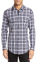 BOSS Men's Robbie Trim Fit Plaid Sport Shirt