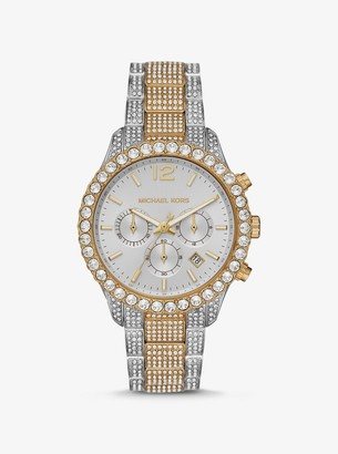 Michael Kors Oversized Layton Pave Two-Tone Watch