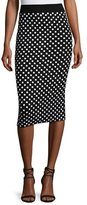 Michael Kors Polka-Dot Pencil Skirt, Black/White