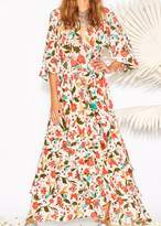 Figue Frederica Dress In Paradise Batik Ivory