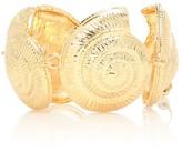 Tohum Design Archi 24kt gold-plated shell bracelet