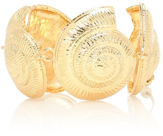 Tohum Design Archi 24kt gold-plated shell bracelet