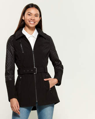 MICHAEL Michael Kors Quilted Sleeve Faux Fur-Lined Jacket