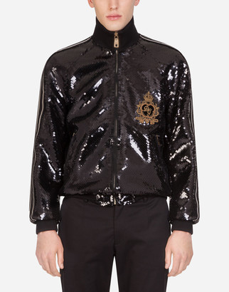 Dolce & Gabbana Sequined Jacket With Patch