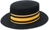 Le Chapeau contrast stripe hat