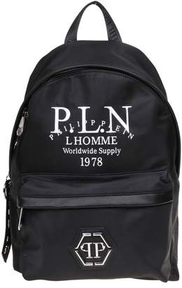Philipp Plein Backpack Rock In Nylon Color Black
