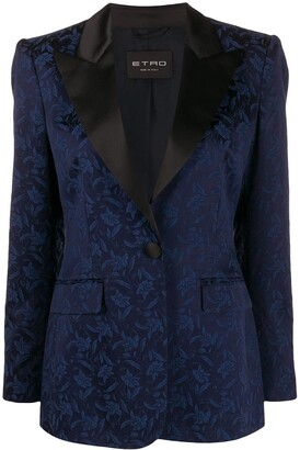 Etro Floral-Jacquard Fitted Blazer