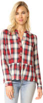 Splendid Edgware Plaid Blouse