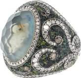 Sevan Biçakci Carved Swan Ring In Moonstone