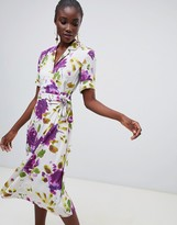 Finery Lyall floral print wrap shirt dress