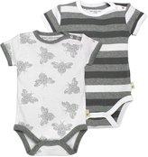 Burt's Bees Baby Stripe Bodysuits Sets (Baby) - Heather Grey-Newborn
