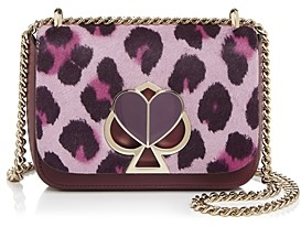 Kate Spade Small Convertible Chain Calf Hair & Leather Shoulder Bag
