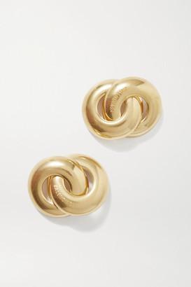 Balenciaga Twin Gold-tone Earrings - one size