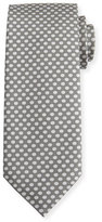 Tom Ford Dot-Print Silk Tie, Gray