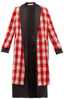 Marni Checked Wool-blend Boucle Coat - Womens - Red White