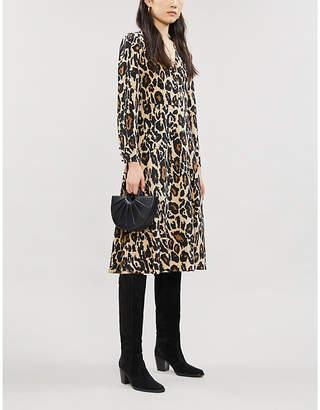 Diane von Furstenberg Viviana leopard-print silk-crepe midi dress