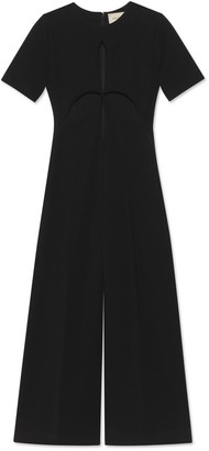 Gucci Wool jersey jumpsuit with cut-out detail