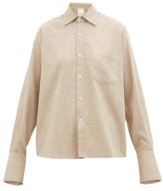 Marrakshi Life - French-cuff Cotton-blend Shirt - Beige