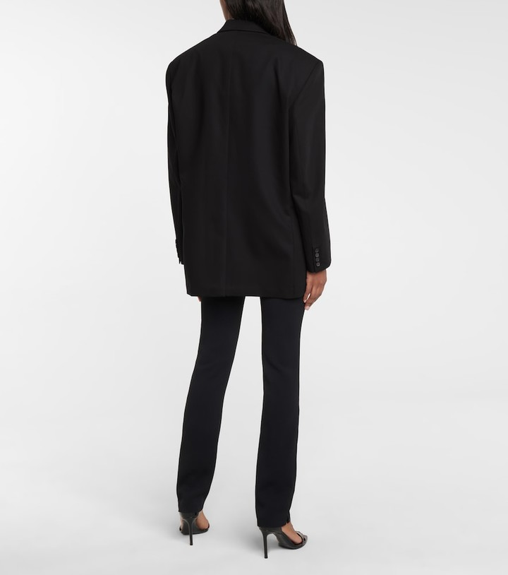 Thumbnail for your product : Magda Butrym Oversized wool and silk blazer