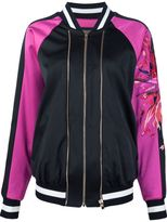 Alexandre Vauthier embroidered sleeve bomber jacket - women - Spandex/Elastane/Viscose - 40