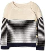 Gap Stripe garter button sweater