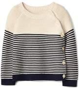 Gap Stripe garter button sweater