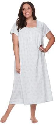 Croft & Barrow Plus Size Pintuck Nightgown