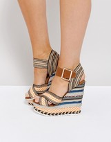 Missguided Raffia Wedge Sandal