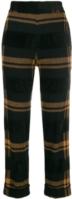 D-Exterior D.Exterior striped cropped trousers