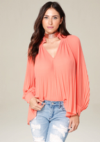 Bebe Pleated Blouse