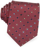 Forzieri Multicolor Dots Woven Pure Silk Men's tie