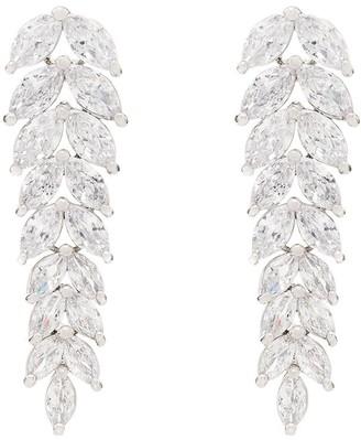 Apples & Figs silver-plated crystal drop earrings