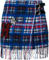 Tommy Hilfiger patch checked skirt