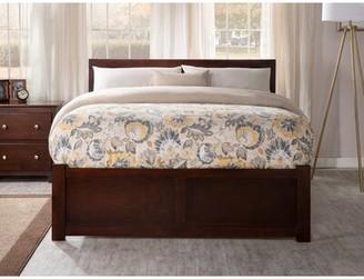 Viv + Rae Wasilewski Platform Bed with Trundle Size: Full, Bed Frame Color: Antique Walnut