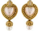 Penny Preville Diamond & Pearl Heart Earclips