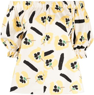 REJINA PYO Floral-Print Puff-Sleeved Blouse