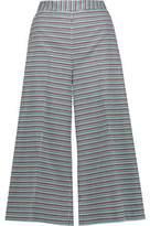 MSGM Cotton-Blend Jacquard Culottes
