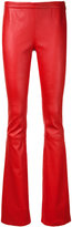 Pierre Balmain bootcut leather trousers - women - Lamb Skin - 38
