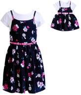 Dollie & Me Girls 4-14 Tee & Floral Slip Dress Set