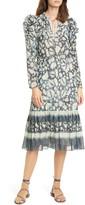 Ulla Johnson Nadia Floral Long Sleeve Midi Dress